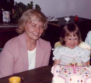 Grandma and I.